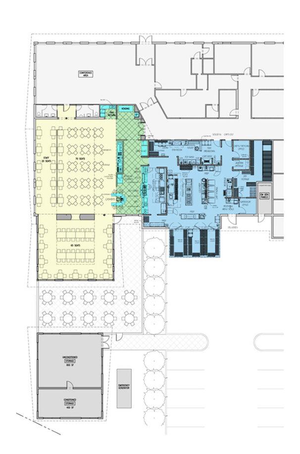 Final Plan of Princeton House Dining